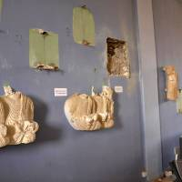 A handout picture released by the official Syrian Arab News Agency (SANA) on Sunday shows destruction in the museum of the ancient Syrian city of Palmyra after government troops recaptured the city from Islamic State fighters the previous day. | SANA / AFP-JIJI
