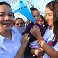 Philippine Sen. Grace Poe attends a campaign rally in Agusan del Norte in this photo taken from her official Facebook page.