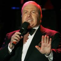 Singer Frank Sinatra Jr. performs at the 15th annual Society of Singers ELLA Awards in Beverly Hills, California, in 2006. The son of legendary actor and singer Frank Sinatra has died, the Peabody Auditorium said on Wednesday. | REUTERS