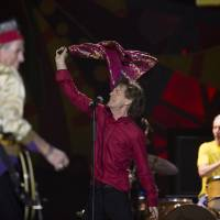 The Rolling Stones' Mick Jagger, Keith Richards (left) and Charlie Watts perform Feb. 20 during their Latin America tour, at the Maracana stadium in Rio de Janeiro. The tones say they will play a free concert in Havana on March 25, becoming the biggest act to play Cuba since its 1959 revolution. | AP