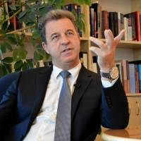 Yugoslav war crimes court (ICTY) chief prosecutor Belgian Serge Brammertz gives an interview on March 11, 2016. Brammertz urged that those responsible for war crimes in Syria should be prosecuted as the war-torn country marked five years of bitter conflict. | AFP-JIJI