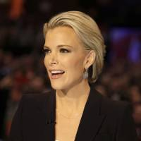 Moderator Megyn Kelly talks Jan. 28 during a Republican presidential primary debate in Des Moines, Iowa. Anticipating another appearance on a debate stage with Donald Trump, Kelly says their public feud hasn't affected her preparation and she doesn't expect a renewal of hostilities with the Republican presidential front-runner. She is moderating a debate with colleagues Bret Baier and Chris Wallace, Thursday at Detroit's Fox Theater from 9 to 11 p.m. ET. | AP