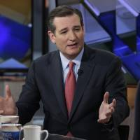 Republican presidential candidate Sen. Ted Cruz is interviewed by Maria Bartiromo during her 'Mornings with Maria' program on the Fox Business Network, Wednesday in New York. | AP