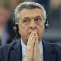 United Nations High Commissioner for Refugees (UNHCR) Filippo Grandi attends a debate at the European Parliament in Strasbourg, France, March 8. | REUTERS