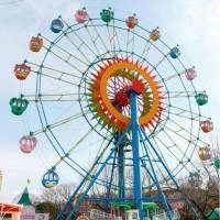 The ferris wheel at the amusement park at Higashiyama Zoo and Botanical Gardens in Nagoya was operated without a door closed. | HIGASHIYAMA ZOO AND BOTANICAL GARDENS/KYODO
