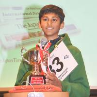 The 12-year-old winner of the 7th Japan Times Bee credits victory to hard work