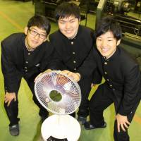 With new toe-operated fan, students put their best feet forward