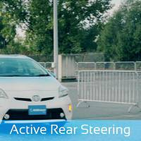 The system takes over steering and helps pull the car to the left shoulder. | VIDEO FOOTAGE BY AISIN SEIKI CO./CHUNICHI SHIMBUN
