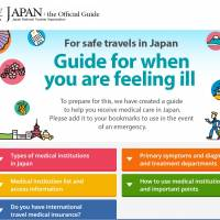 Japan lists medical facilities suitable for foreign tourists