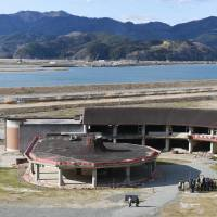 This former elementary school in Ishinomaki, Miyagi Prefecture, will be turned into a monument to the destruction caused when the March 2011 tsunami nearly wiped out the town. A total of 84 pupils and staff were killed there.   KYODO