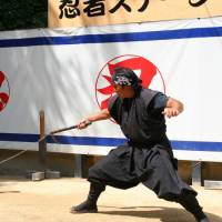 Students at one Mie Prefecture school were given social studies and physical education credit for visiting a ninja museum and throwing ninja knives at the facility.   IAN MCBURNIE / FLICKR / CC BY-ND 2.0