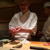 A meal at Sushi Tokami is naturally season-centric, but Sato's maguro tasting flight, which ends with melt-in-your-mouth otoro, is on the menu year-round. | ROBBIE SWINNERTON