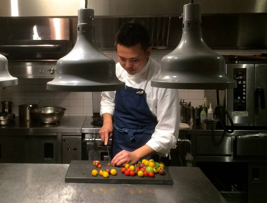 Ready to blossom: Chef Shinya Otsuchihashi is making waves at his cutting-edge Nakameguro restaurant, Craftale. | ROBBIE SWINNERTON