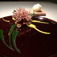 Craftale is an anagram of the French word fractale (fractal) and pronounced similarly. This is echoed in the artistic platings, such as this feast for the eyes: yellowtail served with chrysanthemum. | ROBBIE SWINNERTON