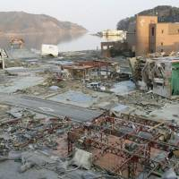 Nature's wrath: Seventy percent of Onagawa's buildings were destroyed on 3/11 and 827 people lost their lives in the disaster. | KYODO