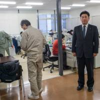 First things first: 'Putting to one side industry's demand for more trainees, potential problems include Japan's unique language, its lifestyle habits, culture,' says Onagawa Mayor  Yoshiaki Suda (right). Unless we have an atmosphere in which both sides accept cultural differences, there will be a lot of issues.' | MICHEL HUNEAULT
