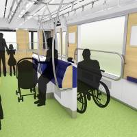 Seibu Railway Co.'s new train is expected to include carriages with 'partner zones' for passengers in wheelchairs and people with strollers. | COURTESY OF SEIBU