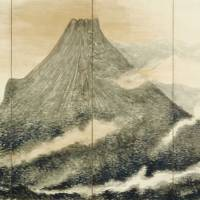 'Mt. Fuji' (right side of a pair of six-fold screens, 1898) | KIYOSHI-KOJIN SEICHOJI TEMPLE, TESSAI MUSEUM