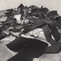 Robert Morris' 'Lead and Felt' (1969), installation view, Castelli Gallery, New York. | © ROBERT MORRIS / ARTISTS RIGHTS SOCIETY (ARS), NEW YORK; COURTESY OF THE ARTIST AND BLUM  & POE, LOS ANGELES / NEW YORK / TOKYO