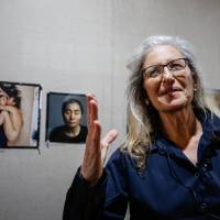 Annie Leibovitz talks about her new exhibition, 'Women: New Portraits,' a global tour of images commissioned by UBS. | CHRISTOPHER JUE/GETTY IMAGES