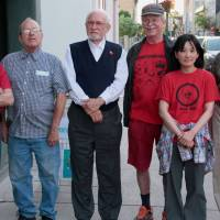 Hard to define: The Nihilist Spasm Band includes (from left) John Clement, Murray Favro, Bill Exley, John Boyle, Aya Onishi and Art Pratten.