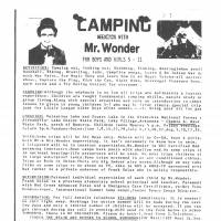 A flier supplied by the Rapides Parish Sheriff's Office advertises the camping trip in 1979 on which Selas is alleged to have sexually abused boys in Louisiana.