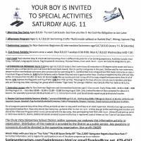 Another flier supplied by the Rapides Parish Sheriff's Office solicits boys for 'special activities' at Frank Selas' home in Bonita, California.