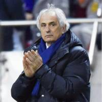 Japan manager Vahid Halilhodzic was happy with Thursday's 5-0 win over Afghanistan and hopes the Samurai Blue will also shut out Syria on Tuesday night. KYODO