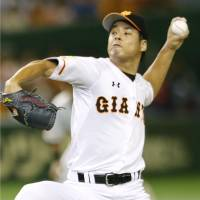 Giants reliever Kyosuke Takagi said that he began betting on baseball in 2014. | KYODO
