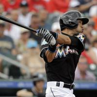 Marlins outfielder Ichiro Suzuki, who turned 42 in October, is the second-oldest player in the major leagues.   AP