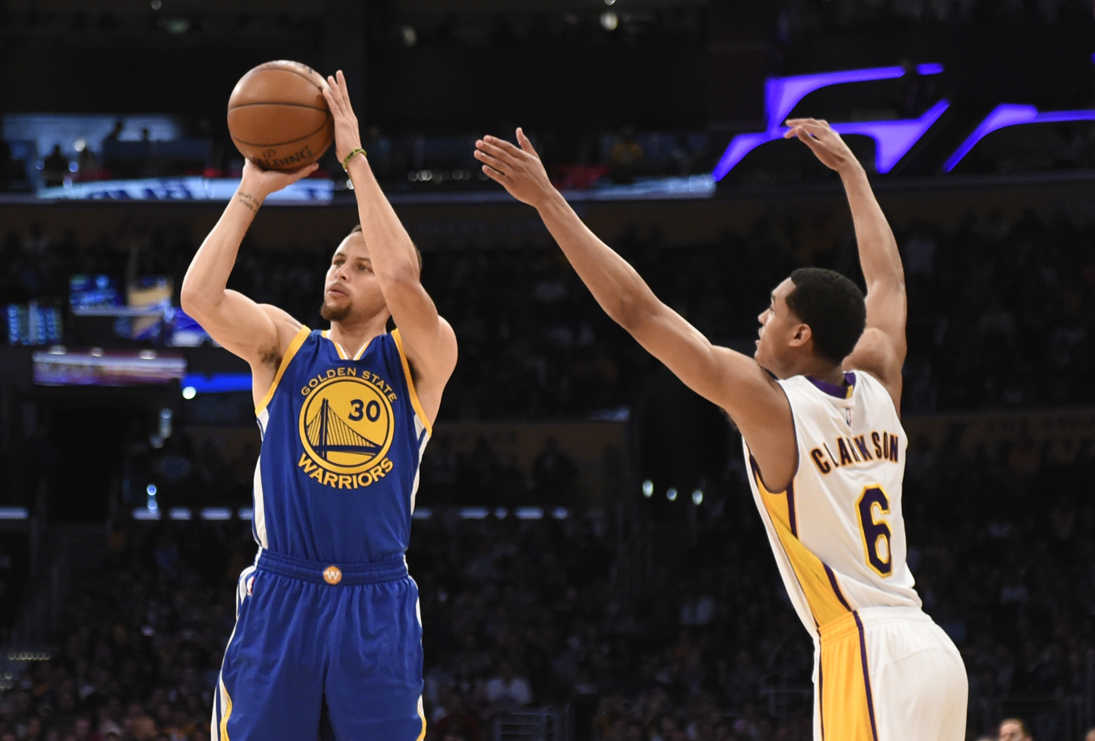 Warriors guard Stephen Curry is a shoo-in to win his second straight MVP award.   USA TODAY / REUTERS