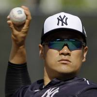 Masahiro Tanaka will have to pass a test in his final spring training outing before a decision is made on him starting Opening Day. | AP