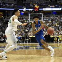 Top-seeded Oregon ousts Duke