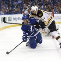 Marchand strikes quickly to lift Bruins in OT
