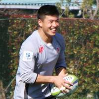 Akihito Yamada and the rest of the Sunwolves face the Melbourne Rebels on Saturday at Prince Chichibu Memorial Rugby Ground. | KYODO