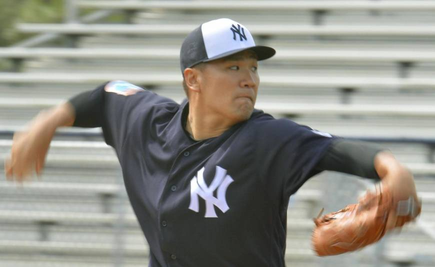Tanaka looks sharp in first simulated game