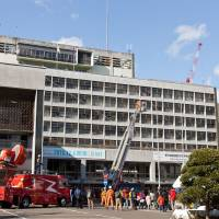 Firefighters conduct a disaster drill. | CITY OF SENDAI