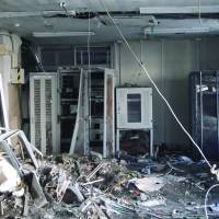 A server room severely damage in the earthquake and tsunami in Rikuzentakata, Iwate Prefecture. | RIKUZENTAKATA CITY