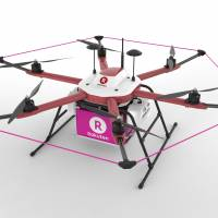 This drone will be used for deliveries at a golf course in Chiba Prefecture, where there are no flight restrictions. | RAKUTEN INC.