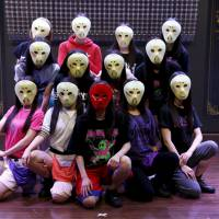Behind the mask: The masks the members of Kamen Joshi wear are part of its allure according to fans.   REUTERS