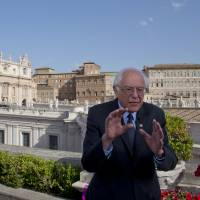 Pope calls meeting with Sanders good manners, not political interference