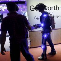 Exoskeleton suit mimics life's creaks, weaknesses at 85 to boost awareness