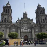 Mexican experts find early burial in first colonial cathedral
