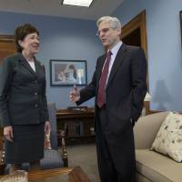 Moderate Maine Republican Collins urges Senate hearings on Obama top court pick
