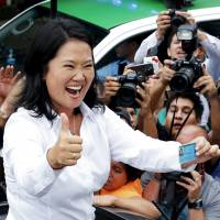 Keiko Fujimori heads to Peru runoff presidential poll after bagging most first-round votes