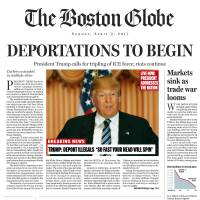 Boston Globe lampoons 'President' Trump on fake front page