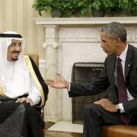 Obama tackles damage control in tour to Saudi Arabia, Europe