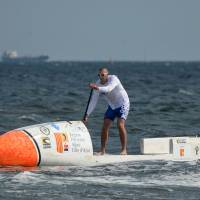 French stand-up paddler sets off on 5,000-km solo Atlantic crossing