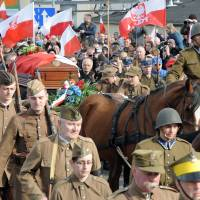 Poland buries remains of leader of WWII, anti-communist resistance executed in 1951