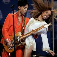 Prince entertains members of the news media in Miami Beach, Florida, in February 2007. | REUTERS